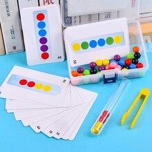 Perline con Clip per bambini giocattolo per bambini perline di legno gioco Montessori educativo apprendimento precoce bambini Clip palla Puzzle giocattoli in età prescolare