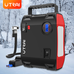 UTRAI Jump Starter 4 in 1 Pump Air Compressor 2000A 24000mAh Power Bank 12V Digital Tire Inflator 150PSI Emergency Battery Boost