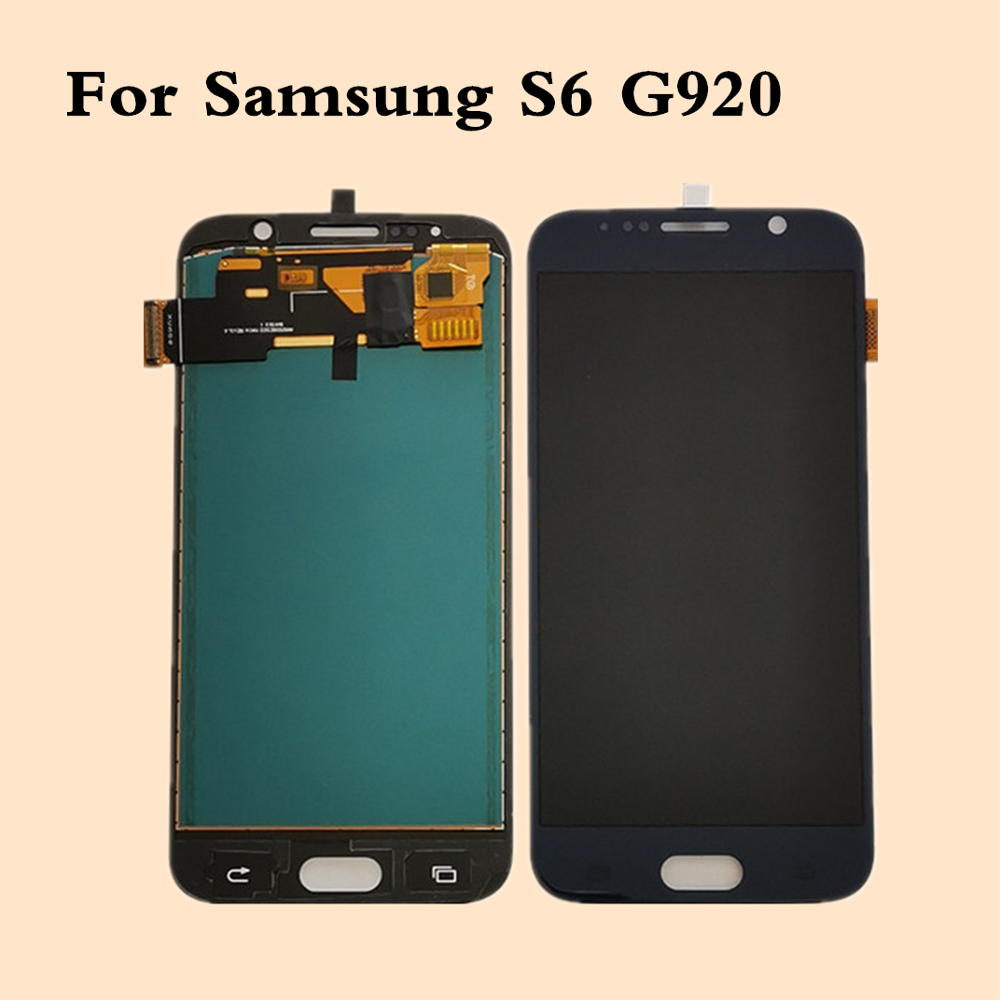 LCD For <font><b>Samsung</b></font> Galaxy <font><b>S6</b></font> Screen For <font><b>SM</b></font>-<font><b>G920F</b></font> LCD Display Touch Digitizer For <font><b>SAMSUNG</b></font> <font><b>S6</b></font> G920 LCD Display Replacement For <font><b>SM</b></font>-<font><b>S6</b></font> image