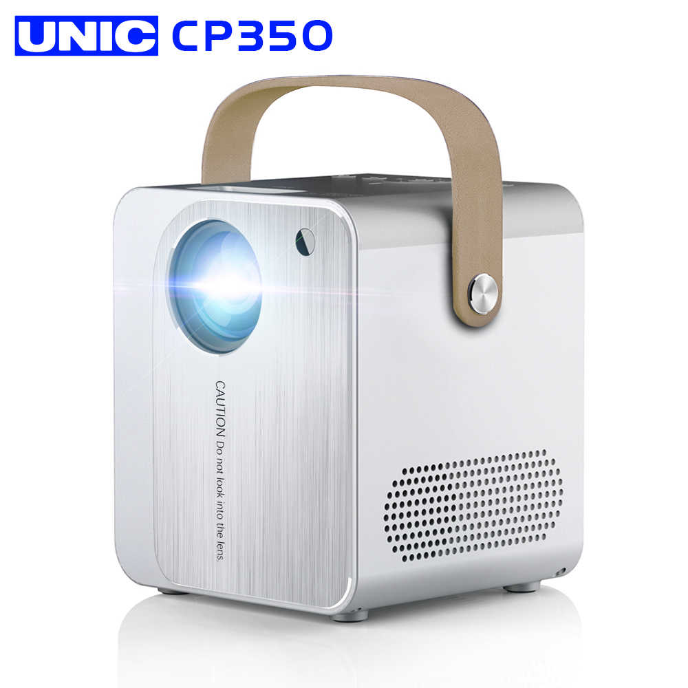 UNIC-Proyector CP350 para cine, Led, Full HD, con 4000 lúmenes, Bluetooth, HDMI, USB, compatible con 1080p