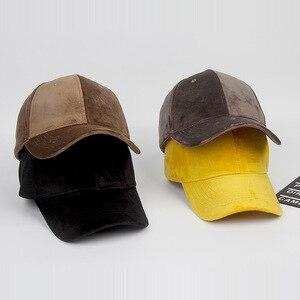 Image 3 - Marca de lujo, gorras de béisbol de terciopelo y algodón para hombres y mujeres, sombreros camionero deportivos, gorra de papá, sombrero de invierno para exteriores, sa 8