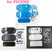 For PSV2000 PSV 2000 Housing Front Faceplate Case Shell Cover with Buttons Kit replacement for PSVITA 2000 Slim Console