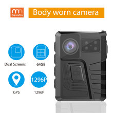 Cammpro m852 15hrs longa vida útil da bateria 1296p hd 64gb portátil polícia gravador pessoal ip66 à prova dwi-fi água wi-fi gps corpo câmera