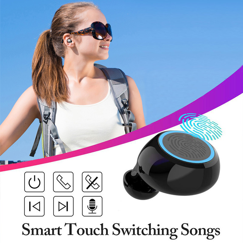 Bluetooth Earphone V5.0 M11 TWS Touch Control Stereo Sport Wireless Headphones  Noise-Reduction Earbuds Headset with Power bank
