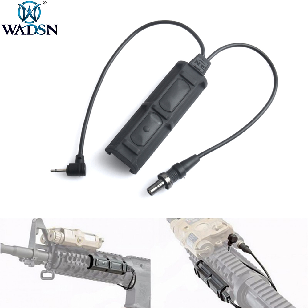 WADSN Softair PEQ Remote Dual Switch 2 Plug Military Pressure Pad Switch For PEQ M3X Tactical Airsoft Flashlight Accessories