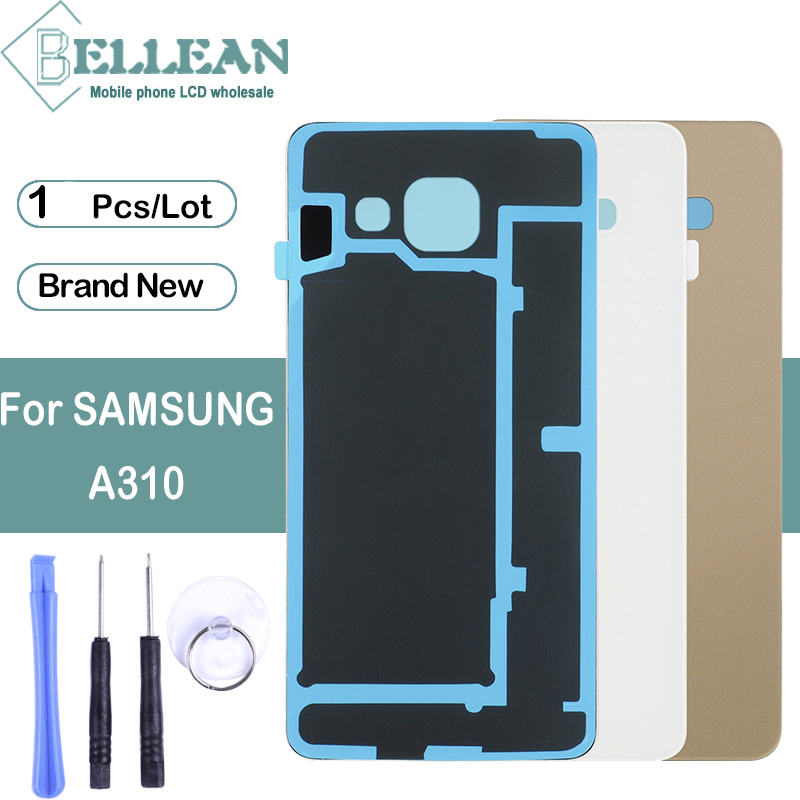 1pcs Dinamico SM-A310F Back Cover A310 Housing For Samsung Galaxy A3 2016 Back Glass Battery Cover Door Case Free Shipping