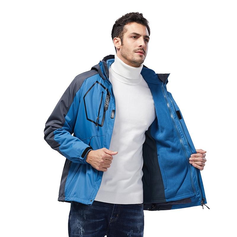 Outdoor Waterproof jacket Hiking clothing Softshell jacket 3 layer PU coating fabric Hiking jacket Light Rainproof suit