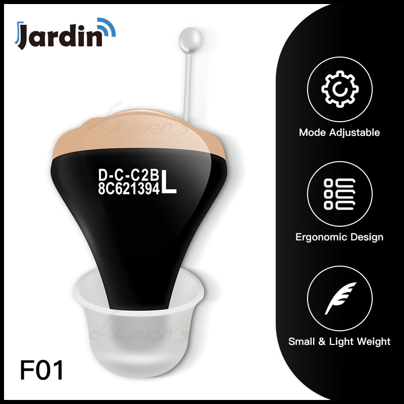 JF01 Digital Hearing Aid Mini Sound Amplifier In The Ear Portable Invisible Hearing Aids Battery 312 Working Longer Dropshipping-in Ear Care from Beauty & Health    1