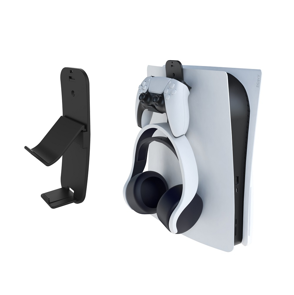 Removable Controller & Headphone Wall Mount Holder Bracket Hanger Storage Stand for Xbox ONE Series X PS5 PS4 NS Switch Gamepad