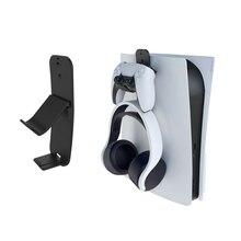נשלף בקר & אוזניות קיר הר מחזיק סוגר קולב אחסון Stand עבור Xbox אחת סדרת X PS5 PS4 NS מתג gamepad