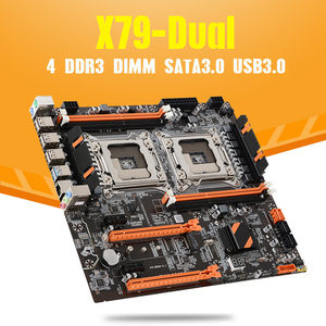 Image 2 - Atermiter X79 Dual CPU Motherboard LGA 2011 4 * DDR3 REG ECC USB3.0 Sta3 PCI E 3.0 With Process Motherboard
