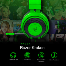 Razer Kraken Gaming Headset Earphone Headphone Cooling Gel Layer Retractable Noise Cancelling Microphone for PC Mac NS PS