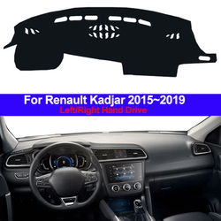 Samochód wewnętrzna Auto pokrywa deski rozdzielczej Dashmat dywan Dash Mat poduszka cape parasol przeciwsłoneczny 2 warstwy dla Renault Kadjar 2016 2017 2018 2019 w Wycieraczki samochodowe od Samochody i motocykle na