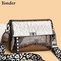 Yonder качественные кожаные сумки через плечо для женщин, женские сумки через плечо, маленькие сумки, высокое качество, серебристая сумка 2020
