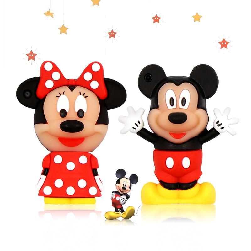 USB Flash Drive 128GB Mouse Mickey And Minnie Pen Drive USB 2.0 Animal Cartoon Pendrive 4GB 8GB 16GB USB Disk 32GB Pendrive 64GB