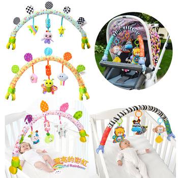 Zabawki muzyczne mobilne dla dzieci do łóżka łóżeczka wózka pluszowe grzechotki dla dzieci zabawki dla niemowląt zabawki 0-12 miesięcy niemowlę noworodek zabawki edukacyjne tanie i dobre opinie Apaffa CN (pochodzenie) Unisex Baby Toys 13-24 miesięcy 3 lat Zwierząt Oddziela Musical SOFT Nadziewane 80cm rattles
