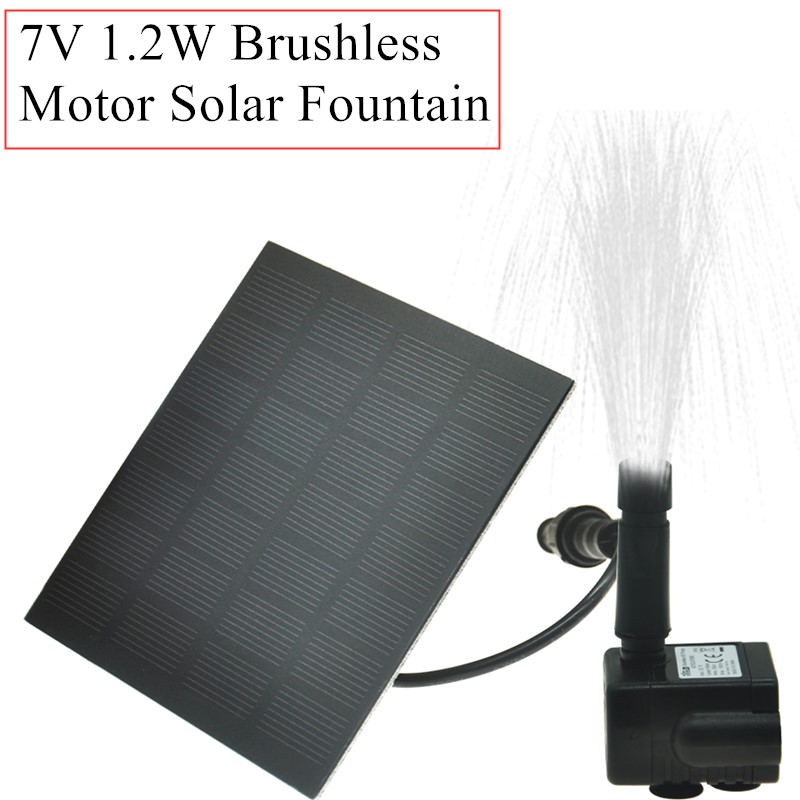 Solar Power Floating Fountain Water Pump Brushless Motor Solar Fountain For Garden Pool Garden Solar Decorative Fountain 40% Off