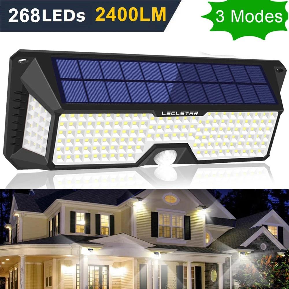 Tenaga Surya Lampu Taman Led Sensor Gerak Lampu Solar Untuk Taman Tahan Air Outdoor Pencahayaan Putih Darurat Street Lampu Dinding Led Lampu Malam Aliexpress