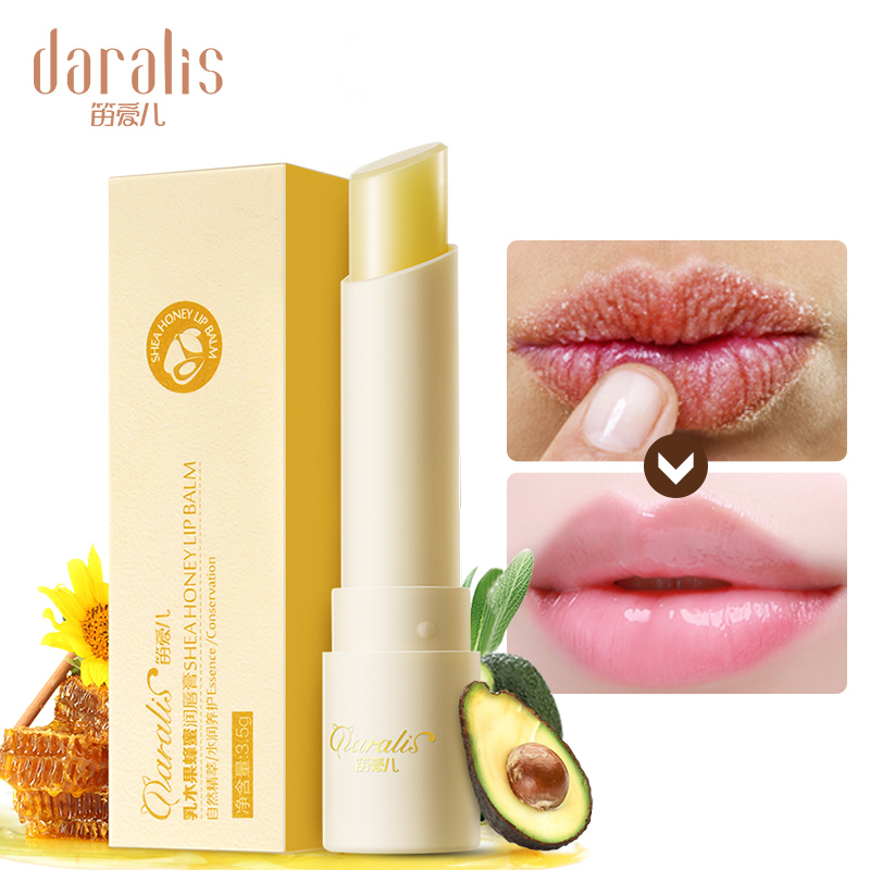 Daralis Shea Honey Lip Balm Moisturizing Colorless Repair Wrinkles Nourishing Anti-chapping For Women Lips Increase Care 3.5g