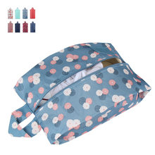 Portable Waterproof Travel Shoe Bag Nylon Storage Bag Stars Printing Pouch Convenient Storage Organizer Shoes Sorting Zipper(China)