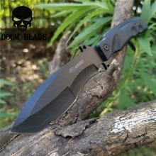 Couteau à lame fixe tactique militaire 8CR13MOV 57HRC couteaux de pêche bon pour la chasse Camping survie en plein air et transport quotidien