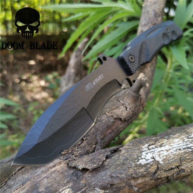 Militar tático lâmina fixa faca 8cr13mov 57hrc facas de pesca bom para a caça acampamento sobrevivência ao ar livre e transportar todos os dias