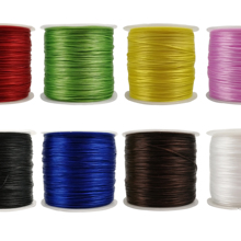 Moon Waves Elastic Thread 8 Colors 500 Yards 0.8MM Flat String Crystal For Beading,Jewelry Making,Bracelet,DIY Handmade Crafts