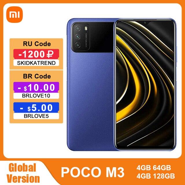 "Global Version POCO M3 4GB 128GB Smartphone Snapdragon 662 Octa Core 6000mAh 48MP Triple Camera 6.53"" FHD+ DotDrop Display 1"