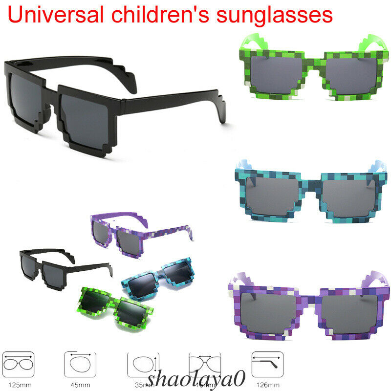 Frame Goggles Mosaic Plaid Glasses Sunglasses Popular Outdoor Kids Boys Girls Child Cartoon Sunglasses Cats Elegant Props Gifts