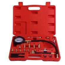 0-140 PSI инжектор топливного насоса тестер Манометр бензиновый автомобильный инструмент для диагностики сгорания масла