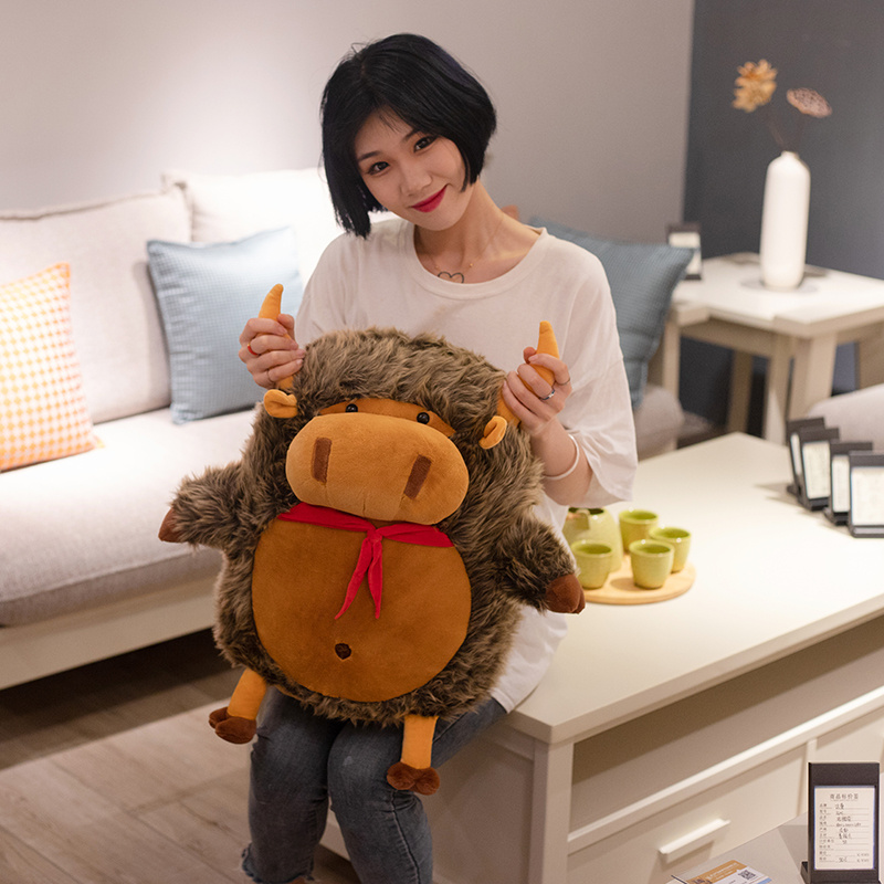30cm Fluffy Doll Adorable Bull Demon Cattle Plush Toy Stuffed Fat Cow Animals Soft Toy For Baby Gift Stuffed Doll For Collection