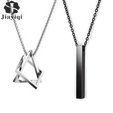 2020 Hot Fashion Geometric Men Pendant Necklace Classic 316L Stainless Steel Chain Necklace