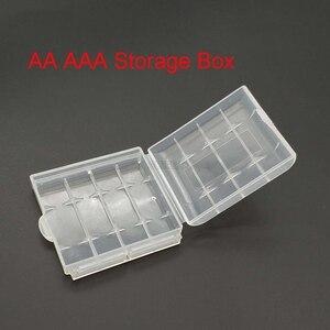 Caja de plástico transparente, caja de almacenamiento para 10440 14500, caja de baterías AA AAA, caja de contenedor, caja, caja tipo organizador