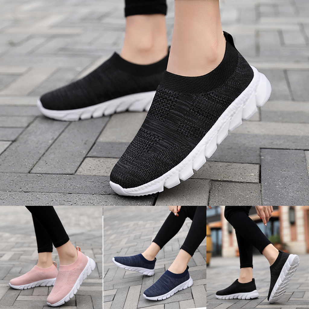 2020 New Fashionable Womens Sneakers Women's Slip-on Shoes Breathable Female Shoes Jogging Walking
