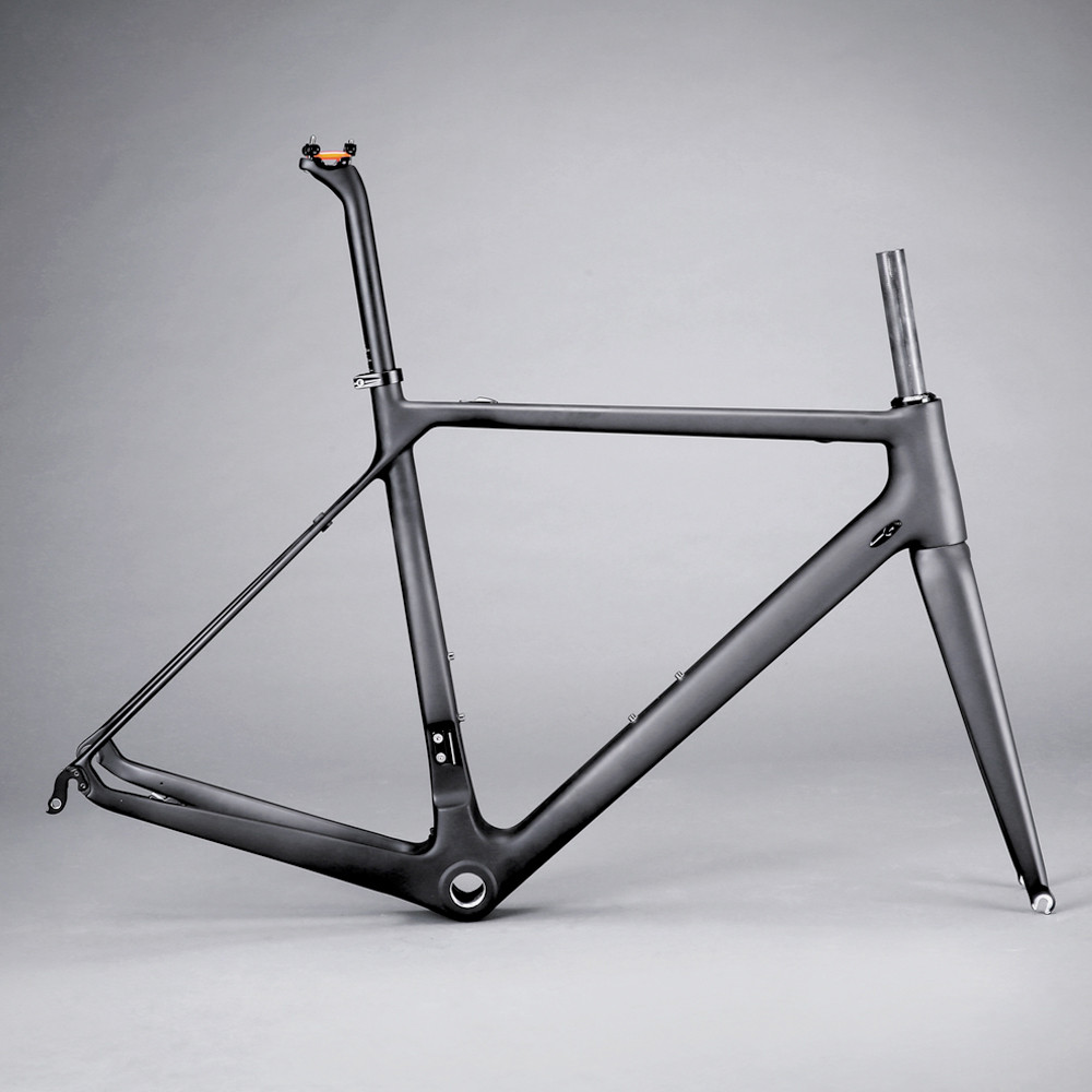 Road-Bike-Frame Carbon-Fiber New-Model T1000 Lightweight 60cm 700C OEM FM069-SL title=