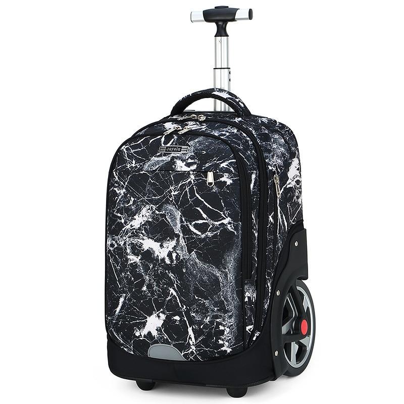 Trolley Schoolbag Book Bag Boys Girls Backpack Waterproof Removable School Bags 18 Inch Suitcase Large Capacity Bags 2020