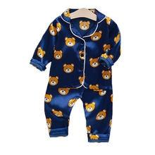 Детская одежда для сна пижамный комплект с мультяшным принтом