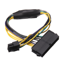 Mayitr 1pc 30cm 24 to 8Pin Optiplex 3020 7020 ATX Power Supply Cable High Quality Motherboard Adapter Cable BS for Dell H61/H81 atx 24pin to motherboard 2 port 6pin adapter power supply cable cord for hp z220 z230 sff mainboard server workstation 30cm