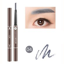 цена на 1pc Automatic Long Lasting Cosmetics Natural Waterproof Eyebrow Pencil Eyebrow Pen Make Up Pencil Fork Tip for Women Girl