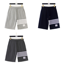 2021 Summer Combed cotton knitting Unisex shorts Casual Breathable Sweatpants Tricolor