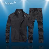 L 9XL Sport Suits Men Sportswear Sets Gym Clothes Fleece Fabric Male Training Winter Tracksuit Running Jogging Suit Mens Large