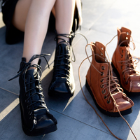 Artmu Original Vintage Handmade Women Boots Thick soled Ankle Boots Strap Custom Genuine Leather Boots Casual Shoes New 88503