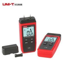 цена на UNI-T UT377A Digital Wood Moisture Meter Hygrometer Humidity Tester for Paper Plywood Wooden Materials LCD Backlight