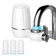 7 kat arıtma seramik filtre su musluk filtresi arıtma mutfak musluk takın ve 3 adet filtre kartuşları Percolator