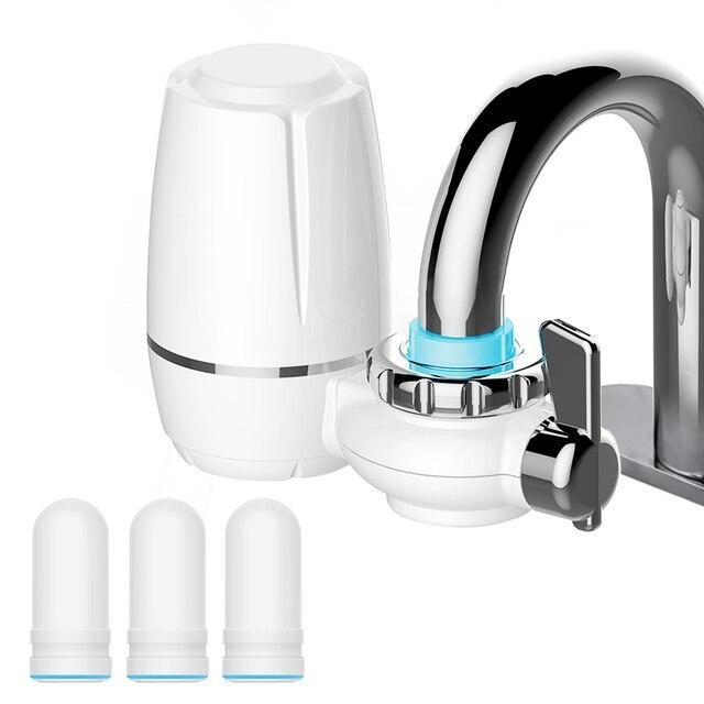 Filtro de cerâmica de 7 camadas para torneira, purificador de filtro para água, fixação e 3 peças