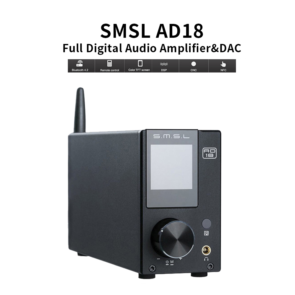 SMSL AD18 Digital Amplifier HI FI Audio Stereo <font><b>Bluetooth</b></font> 4.2 Apt X,USB DSP Full Digital Power amplificador <font><b>2.1</b></font> for Speaker image