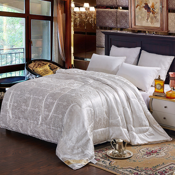 Edredón 100% de seda de morera para invierno/verano, múltiples opciones de Color, cálido y colcha confortable, edredón doble, tamaño King Size