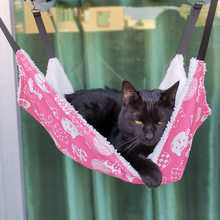 Cotton Cat Hammock Double Hanging Hammock Pet Beds Hanging Guinea Pig Bed Hamster Mouse Squirrel Cat Products For Pets
