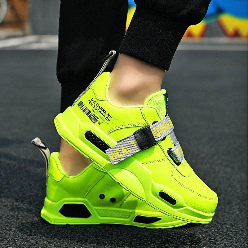 Fire Men Sneakers luz de malla de aire al aire libre zapatillas de deporte tendencia para caminar Zapatos Hombre zapatillas de correr para Hombre cómodo