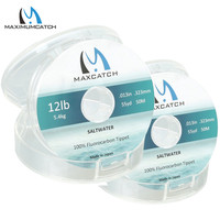 Maximumcatch 100% puro fluorocarbon água salgada tippet fly linha 50 m 12lb/16lb/20lb voar linha de pesca